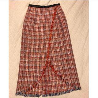 シンゾーン(Shinzone)のTHE SHINZONE シンゾーン レットマキシツイードスカート(ロングスカート)