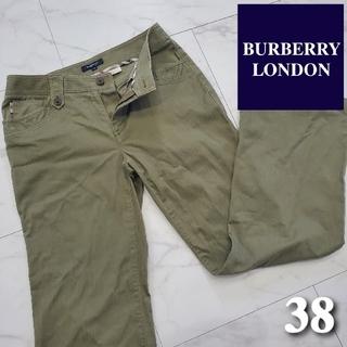 バーバリー(BURBERRY)のバーバリーロンドン パンツ カーキ 38 レディース 服 古着 M(カジュアルパンツ)