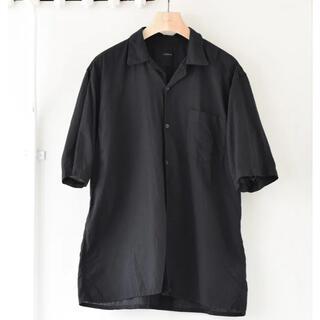 COMOLI - 新品 21ss comoli ベタシャンオープンカラーシャツ  ブラック 3