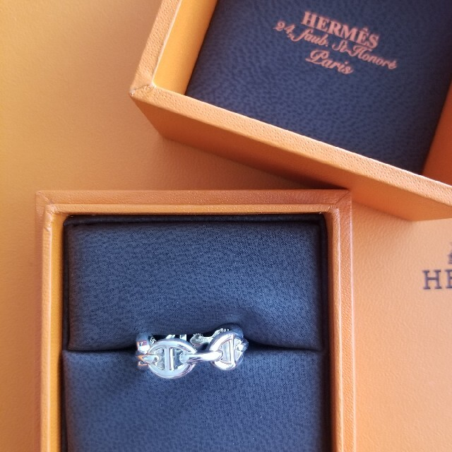 Hermes(エルメス)のエルメス シェーヌダンクル アンシェネ シルバー リング 51 レディースのアクセサリー(リング(指輪))の商品写真
