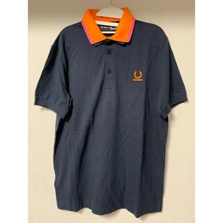 ラフシモンズ(RAF SIMONS)のRaf Simons×Fred Perry ポロシャツ 二重襟 ネイビー 38(ポロシャツ)