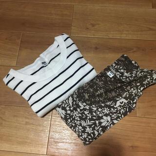 ユニクロ(UNIQLO)のユニクロ リブTシャツ他 トップス Sサイズ 2枚セット(セット/コーデ)