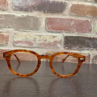44サイズ眼鏡 メンズヴィンテージ風 マーブル鼈甲 べっ甲 44-24
