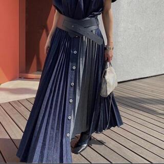 Ameri VINTAGE - ameri vintage デニムプリーツスカート
