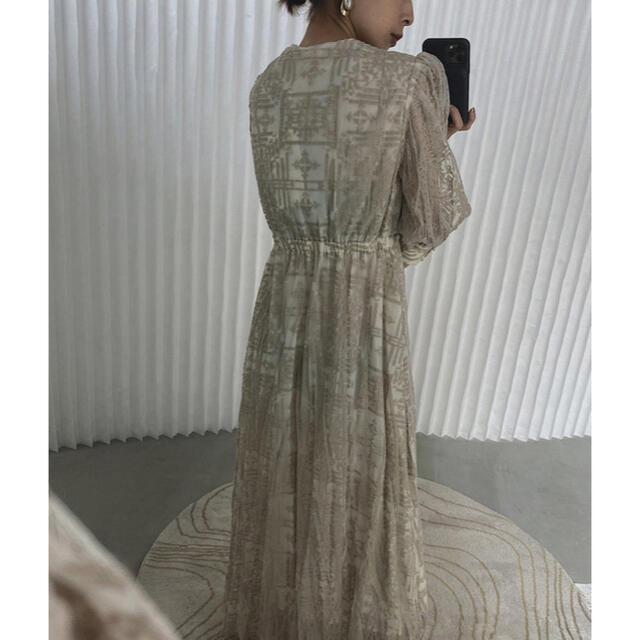 Ameri VINTAGE(アメリヴィンテージ)のAMERI MEDI PALACE EMBROIDERY DRESS レディースのワンピース(ロングワンピース/マキシワンピース)の商品写真