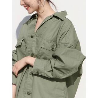 Plage - 美品 Plage 製品加工Bigアーミーシャツ ブラウス