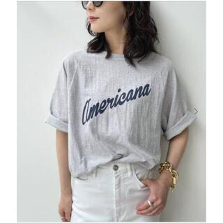 L'Appartement DEUXIEME CLASSE - 【Americana/アメリカーナ】Half Sleeve T-sh グレーA