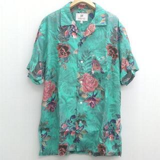 STUSSY - HBNS ハバノス 総柄 アロハシャツ 半袖 レーヨン シャツ XL