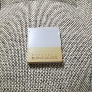 ニンテンドーゲームキューブ(ニンテンドーゲームキューブ)のゲームキューブ メモリーカード (家庭用ゲーム機本体)