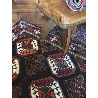 113×240 落ち着いた色ながら華やか Afghan vintage Rug