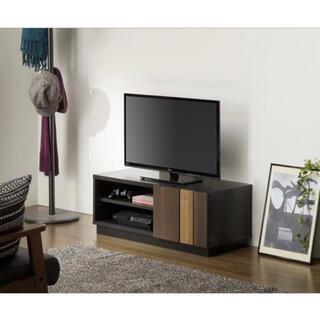 オシャレ家具! ティレスタ TL1-3590SD 黒 テレビ台 テレビボード 棚(ローテーブル)