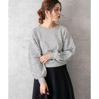 URBAN RESEARCH ROSSO - ⭐︎美品◆アーバンリサーチロッソ◆大人かわいい♡袖刺繍ニットプルオーバー