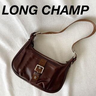 ロンシャン(LONGCHAMP)の美品 Longchamp レザー ハンドバッグ ワンショルダー 普段使い(ショルダーバッグ)
