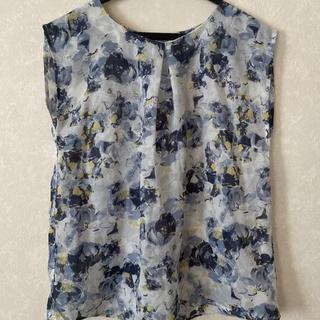 テチチ(Techichi)のテチチ カットソー 花柄 ブルーグレー Mサイズ(シャツ/ブラウス(半袖/袖なし))