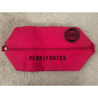 PEARLY GATES - PEARLY GATES パーリーゲイツ シューズバッグ レッド シューズケース