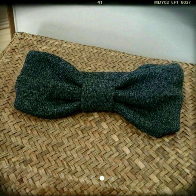頭が痛くならない ゆるめ やわらか ヘアバンド グレー Ungrid ZARA ハンドメイドのファッション小物(スカーフ)の商品写真