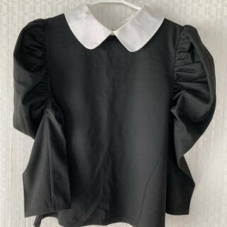 GRL - GRL パワショル襟付きトップス ブラック