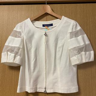 M'S GRACY - エムズグレイシー  ふんわりお袖 ジャケット 白 40
