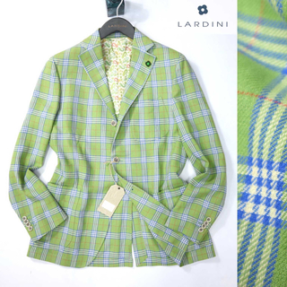 ビームス(BEAMS)のラルディーニ 新品最高級ゼニア生地使用イエローグリーンチェックジャケット(テーラードジャケット)