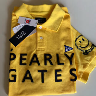 PEARLY GATES - PEARLY GATES men'sニコちゃんポロシャツ