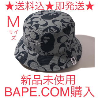 A BATHING APE - BAPE × COACH BUCKET HAT Mサイズ