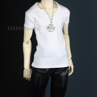 ボークス(VOLKS)のDOLK ORIGINAL SDMサイズ 半袖Vネックシャツ 白(人形)