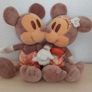 Disney - 日焼けミッキー&ミニー ペアぬいぐるみ
