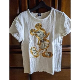ディズニー(Disney)のディズニーミッキーTシャツタオル地(Tシャツ(半袖/袖なし))