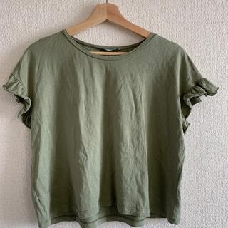 ザラ(ZARA)のZARA Tシャツ 袖フリル(Tシャツ(半袖/袖なし))