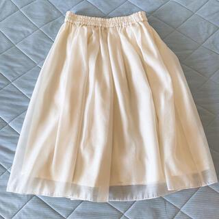 テチチ(Techichi)のte'chichi シアーシフォンスカート(ひざ丈スカート)