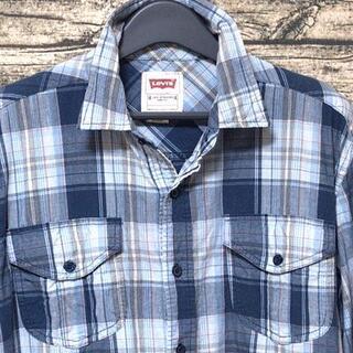 リーバイス(Levi's)のリーバイス チェック 長袖シャツ L 両胸ポケット 薄手タイプ ウエスタン風(シャツ)