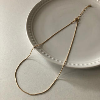 N06ゴールド スネークチェーン ネックレス38cm  インポートアクセサリー(ネックレス)