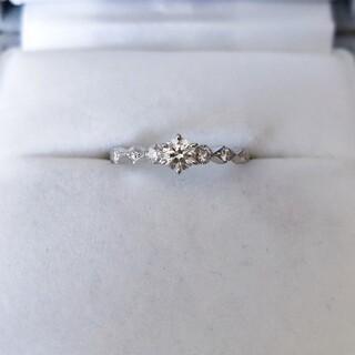 アーカー(AHKAH)のアーカー ダイヤモンド リング Pt900 0.214ct E VVS-2 EX(リング(指輪))