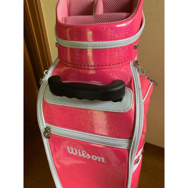 wilson(ウィルソン)のみや様専用  キャディバック ラメ入エナメル スポーツ/アウトドアのゴルフ(バッグ)の商品写真