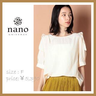 ナノユニバース(nano・universe)のnano・universe ショルダーリボンブラウスC(シャツ/ブラウス(半袖/袖なし))