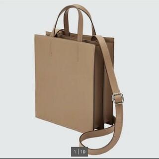 ユニクロ(UNIQLO)の新品【レザータッチ スクエアショルダーバッグ】(ショルダーバッグ)