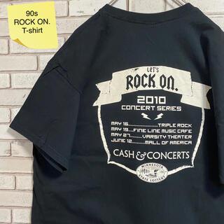 ギルタン(GILDAN)の90s 古着 ロックオン バンドT XL バックプリント ビッグシルエット(Tシャツ/カットソー(半袖/袖なし))