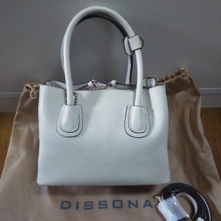 未使用☆DISSONA 本革2wayハンドバッグ ショルダーバッグ オフホワイト(ハンドバッグ)