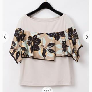 グレースコンチネンタル(GRACE CONTINENTAL)の⭐︎ ⭐︎グレースコンチネンタル⭐︎アシメフラワーTシャツスカーフトップ⭐︎(Tシャツ(半袖/袖なし))