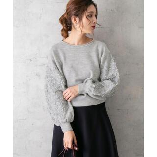 URBAN RESEARCH ROSSO - ◎⭐︎美品◆アーバンリサーチロッソ◆大人かわいい♡袖刺繍ニットプルオーバー