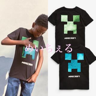 マイクロソフト(Microsoft)の【新品】ブラックMinecraft 両面フリップスパンコールライセンスTシャツ(Tシャツ/カットソー)