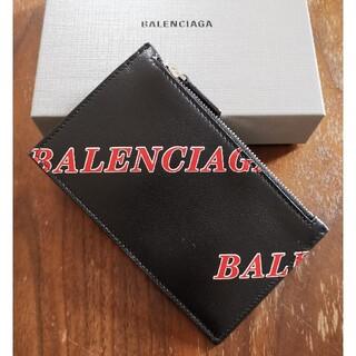 バレンシアガ(Balenciaga)のバレンシアガ 新品 メンズ フラグメントケース(ロゴ/ブラック)(コインケース/小銭入れ)