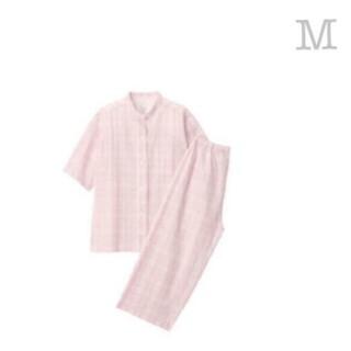 ムジルシリョウヒン(MUJI (無印良品))の《新品》無印良品 脇に縫い目のないサッカー織り半袖パジャマ/ピンク柄/M(パジャマ)