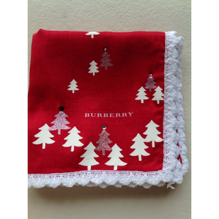 BURBERRY - バーバリー ハンカチ クリスマス 木