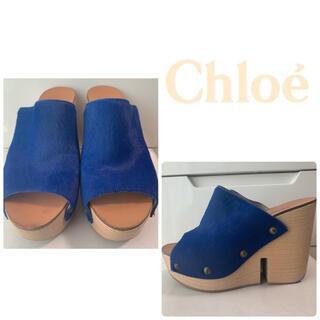 Chloe - クロエ ブルーハラコ サンダル