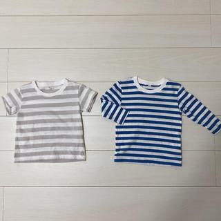 ムジルシリョウヒン(MUJI (無印良品))の無印良品♡ボーダートップス(Tシャツ/カットソー)