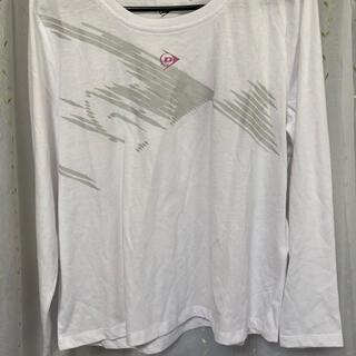 ダンロップ(DUNLOP)のDUNLOP 長袖カットソー ホワイト Lサイズ(Tシャツ/カットソー(七分/長袖))