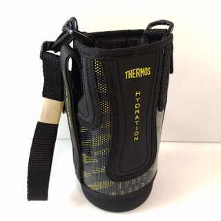 サーモス(THERMOS)の【未使用】サーモス水筒カバー0.8L用(FFZ-801F) ハンディポーチ黒x黄(水筒)