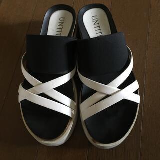 UNTITLED - アンタイトル   サンダル バイカラー ホワイト ブラック