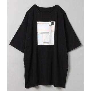JEANASIS - JEANASIS ジーナシス ビッグフォトプリントTシャツ